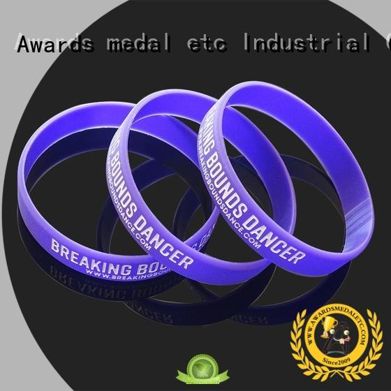 Awards Medal premium quality printed silicone wristbands trader for kids
