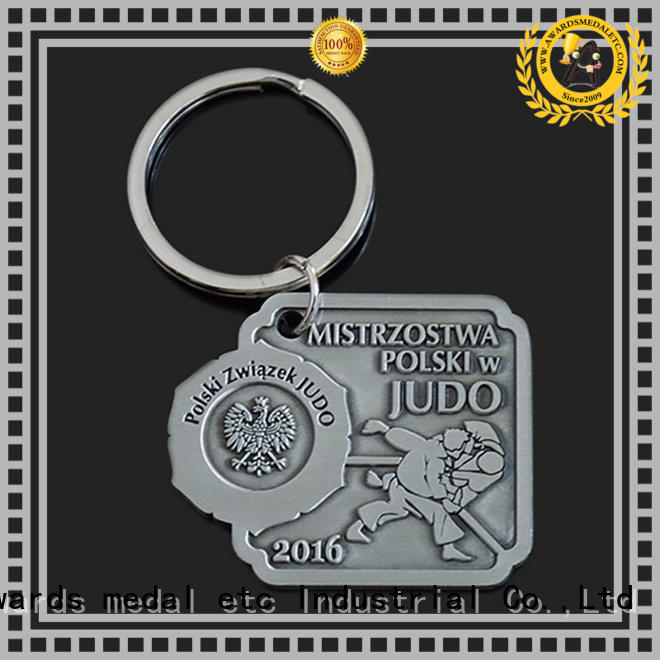 Awards Medal good quality custom metal keychains trade cooperation for gift