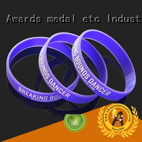 Awards Medal bracelet custom silicone wristbands trader for kids