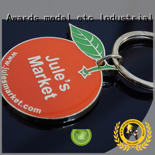 Awards Medal football custom logo metal keychains trade cooperation for promotion