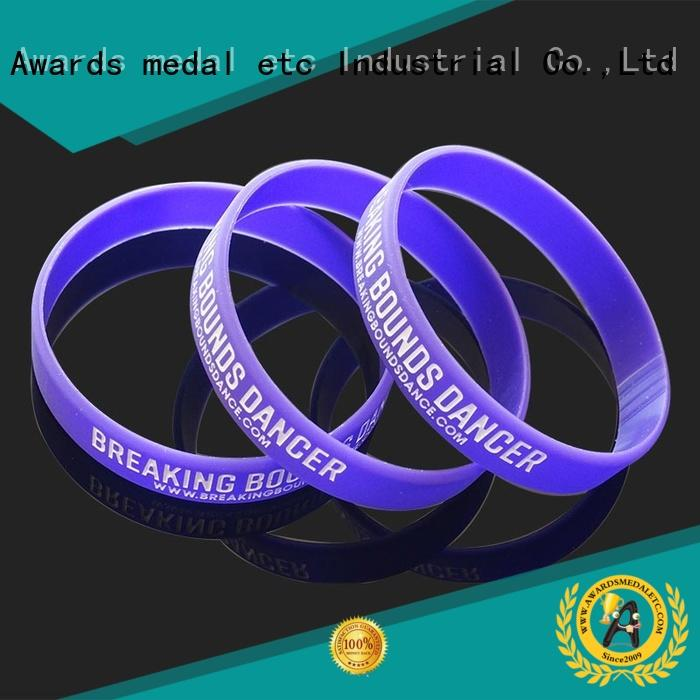 Awards Medal premium quality custom silicone bracelets export worldwide for sport
