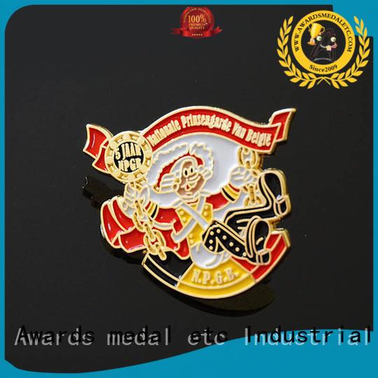 Awards Medal epoxy custom pin badges overseas trader for garment
